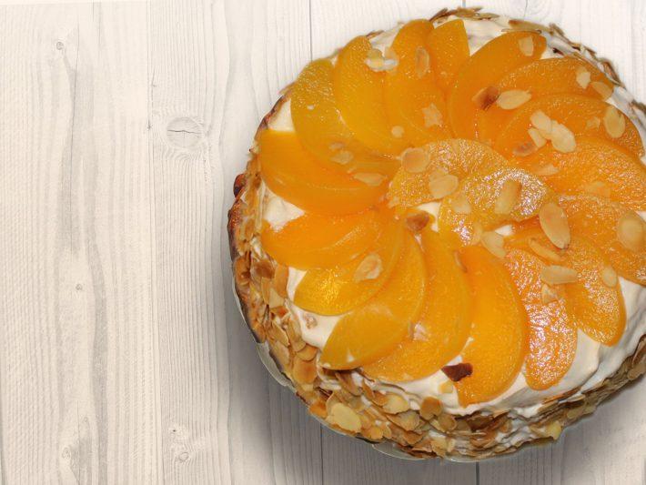 Gâteau aux pêches de l'Hérault