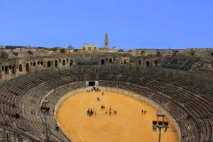 Intérieur des Arènes de Nîmes